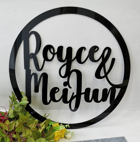 Round Backdrop Signage
