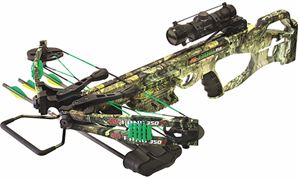 Precision Shooting Equip 18 Fang XT Crossbow Mossy Oak Country Camo Package