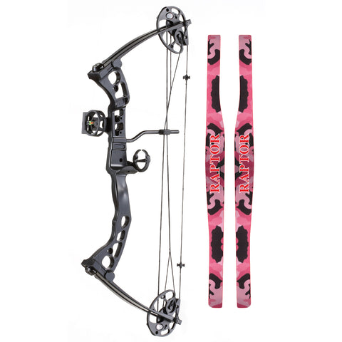 SA Sports Raptor Youth Compound Bow Pink Camo