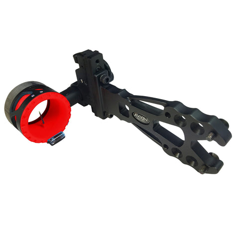 "Axion Shift Single Pin Sight .019"" Black with Red Guard Ring"