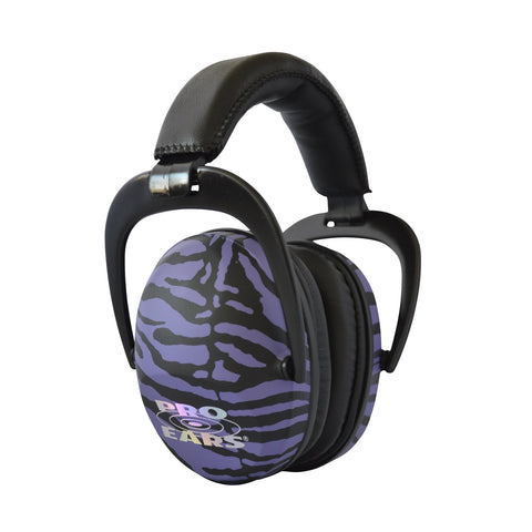 Pro Ears Ultra Sleek Headset - Purple Zebra