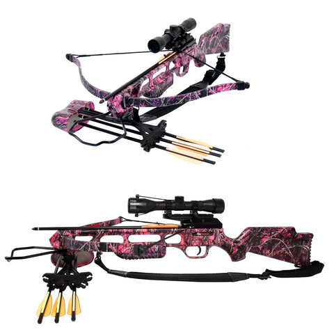 SA Sports Fever Muddy Girl Crossbow Package - 175lb Pink