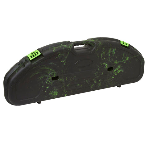 Plano Ultra Compact Bow Case - Black w/ Green Swirl