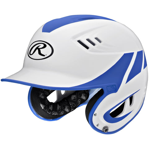 Rawlings Velo Series Junior 2-Tone Home Batting Helmet-Blue R16H2J-W/MR