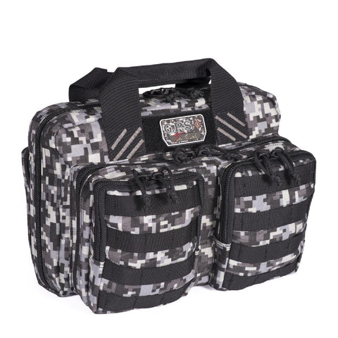 G Outdoors Tactical Quad + 2 Pistol Range Bag - Gray Digital GPS-T1315PCGD