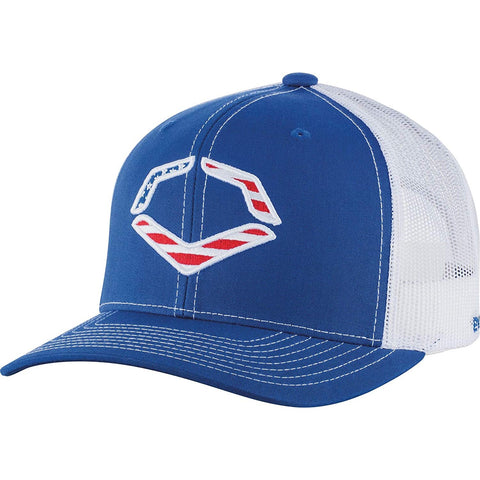 EvoShield EvoShield USA Snapback Trucker Hat-Royal/White WTV1034320430OSFM