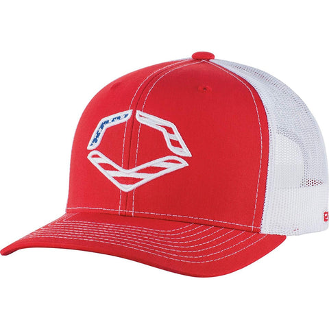 EvoShield EvoShield USA Snapback Trucker Hat-Red/White WTV1034320620OSFM