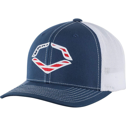 EvoShield EvoShield USA Flexfit Trucker Hat-Navy/White Mesh S/MD WTV1035320410SMMD