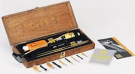 Hoppe's Gun Cleaning Kit in Wood Presentation Box for Rifle and Shotgun BUOX