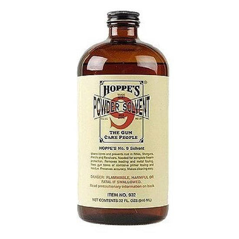 Hoppe's No. 9 Gun Bore Cleaning Solvent 1 Quart Bottle 932