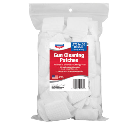 Birchwood Casey .26-.30 Caliber Gun Cleaning Patches 750 Pack