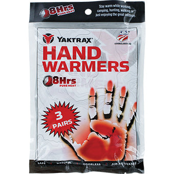 Yaktrax Hand Warmers 3 Pack