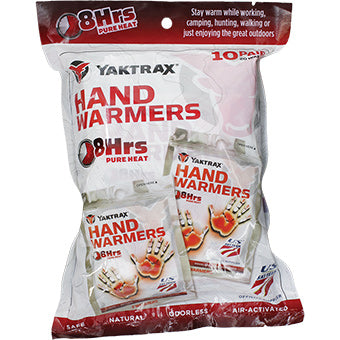 Yaktrax Hand Warmers 10 Pack