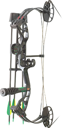 "PSE 18 Mini Burner RTS Youth Bow Package Left Hand 25"" 40# Black"