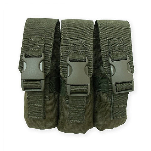 Triple Flashbang Pouch Olive Drab Green