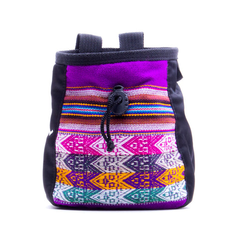 Evolv Andes Fuchsia Knit Rock Climbing Chalk Bag