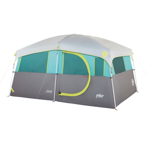 Coleman Tenaya Lake Lighted 8 Person Cabin Tent - Teal/Gray 2000029969