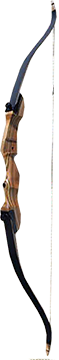 "Western Recreation Ind 18 Monarch Takedown Bow Black Limbs Right Hand 62"" 50#"