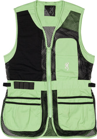Bg Mesh Shooting Vest R-Hand Women's Small Black/Neomint 3050694401