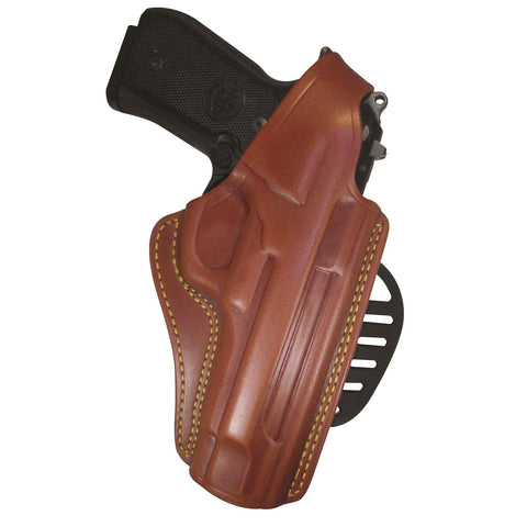 Gould & Goodrich Chestnut Brown Paddle Holster - Beretta 92 Compact RH