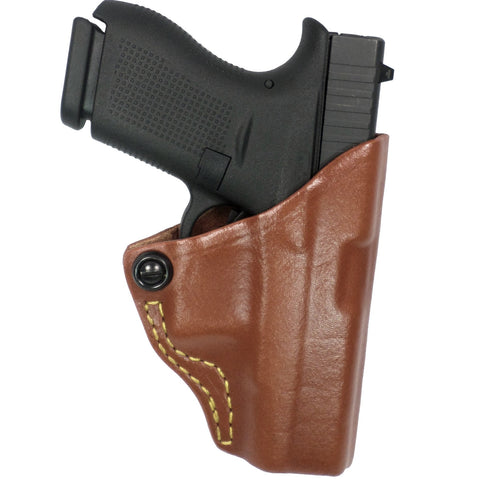 Gould & Goodrich Chestnut Brwn Tension Belt Slide Holster-Kahr Right Hand