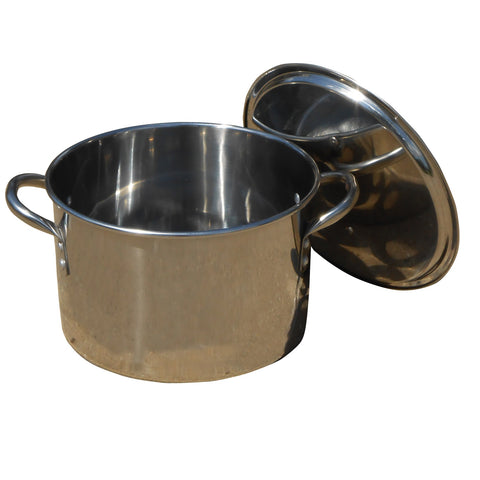 King Kooker #KK20S-20 Qt. Polished Stainless Steel Pot with Lid