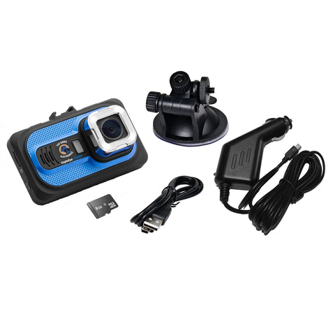 Top Dawg EagleEye 1080P DVR Dash Camera with G-Sensor & 8 GB SD