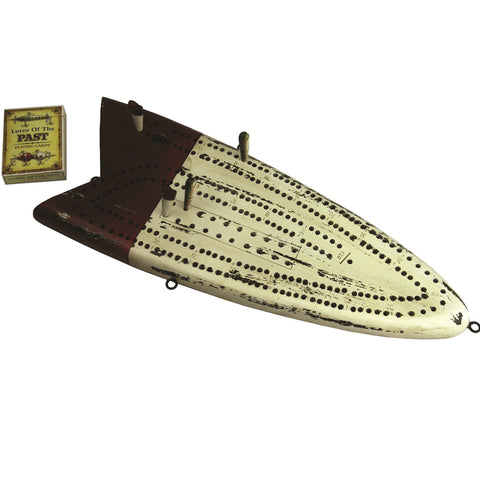 Rivers Edge Antique Fishing Lure Cribbage Set