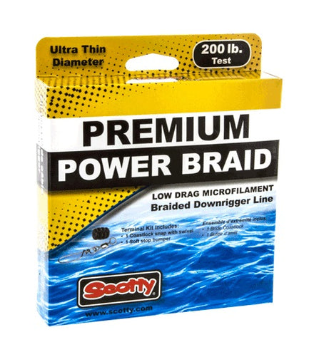 Scotty Power Braid Downrigger Line 200lb Test 400 Foot spool with Kit