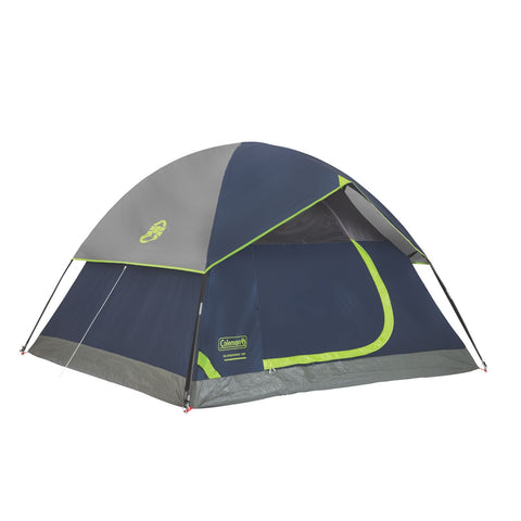 Coleman Sundome 3 Tent 7x7 Foot Green/White/Grey 2000007828