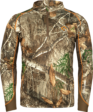 Scentlok Savanna Attack 1/4 Zip L/S Shirt Realtree Edge Medium