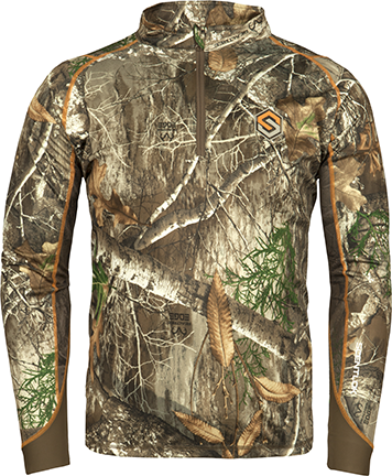 Scentlok Savanna Attack 1/4 Zip L/S Shirt Realtree Edge Large