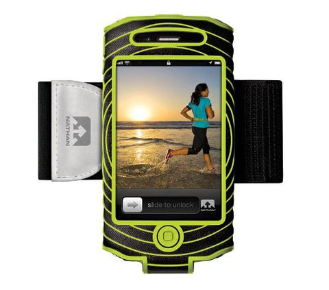 Nathan Sonic Boom Armband For iPhone 4/4s Black/Green 4887NBE
