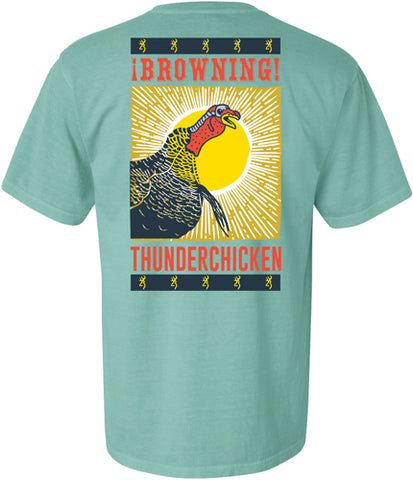 Bg Men'S T-Shirt Thunder Chicken X-Large Mint< A000358030105