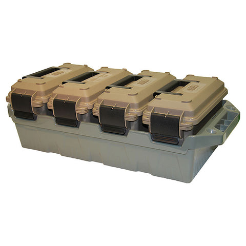 MTM Case-Gard 4-Can Ammo Crate Color Dark Earth/Forest AC4C