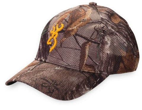 Browning Mesh-Lite Cap Realtree Xtra/Orange Buck Mark Logo 308160211