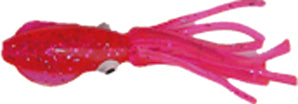 "Reef Fisher B2 Squid 3"" 10 Per Pack - Pink/Silver Glitter 67MU10"