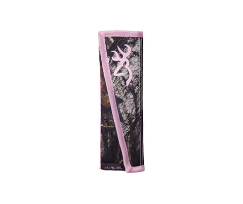 Browning Seat Belt Pad Browning - Breakup/Pink BBCO4002