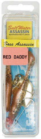 "Bass Assassin Red Daddy 4"" Redfish Spinbait New Penny RD88377"
