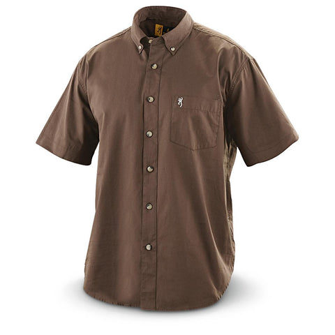 Browning Wrinkle Resistant Shirt Timber Short Sleeve Medium BRI2001056L
