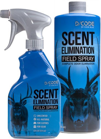 Code Blue D/Code Scent Elimination Spray Refill Combo 12fl oz/32 fl oz OA1311