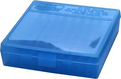 Mtm Ammo Box .22Lr 100-Rounds Clear Blue P1002224