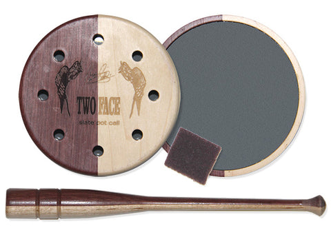 Pittman Game Call Pot Turkey Two Face Slate PP309