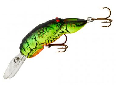 "Rebel Wee Crawfish 2"" 1/5Oz Chartreuse/Green Back 2In 1/5Oz Chart/Grn Back F7634"