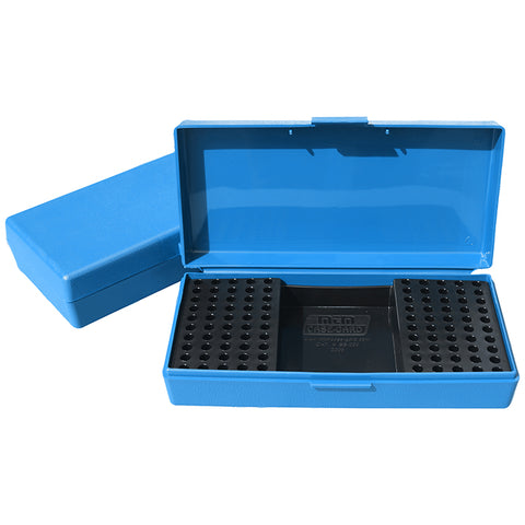 MTM Ammo Box 100 Round 22 Long Rifle Rimfire Competition Blue