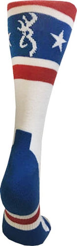 Bg Unisex America Red White & Blue Socks Large Calf Height A000285810104