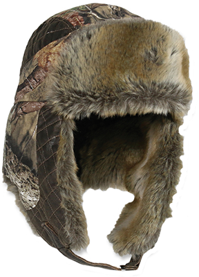 Outdoor Cap Company Inc Mossy Oak Breakup Country Fleece Trapper Lined w/Fur Hat