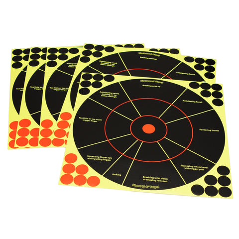 "Birchwood Casey Shoot-N-C 12"" Handgun Trainer Target-5pc 34032"