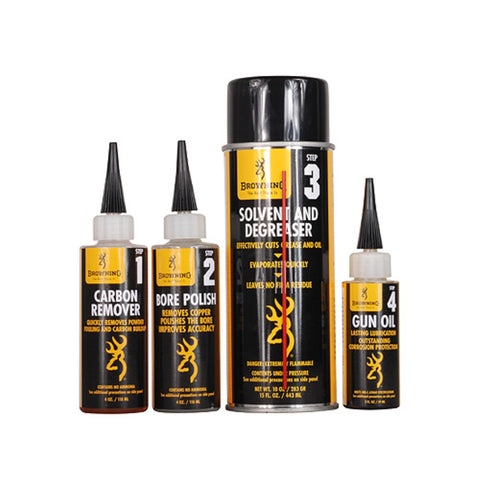 Browning Gun Care 4-Step Cleaner Prepack 123400