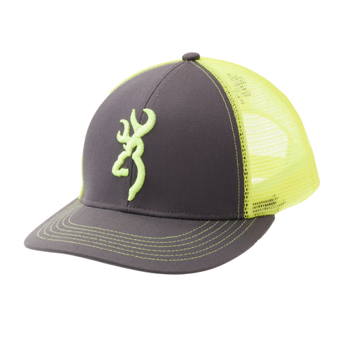Browning Cap Flashback Charcoal/Neon Green 308177541